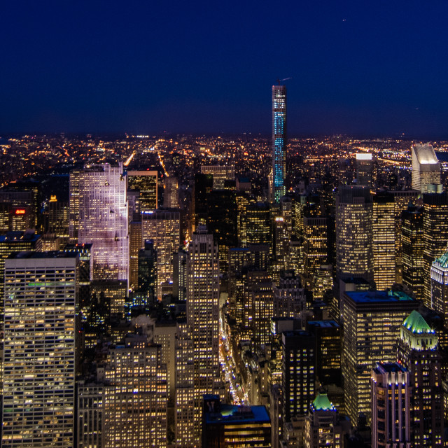 """""""Manhattan from The Empire State Buliding"""" stock image"""