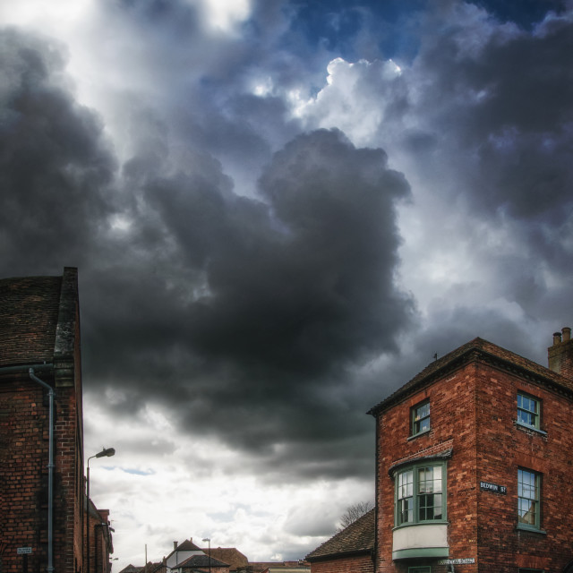 """""""Cloudy Town"""" stock image"""
