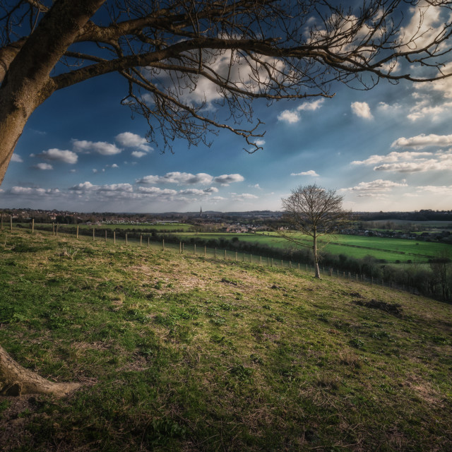 """Looking Towards Salisbury"" stock image"