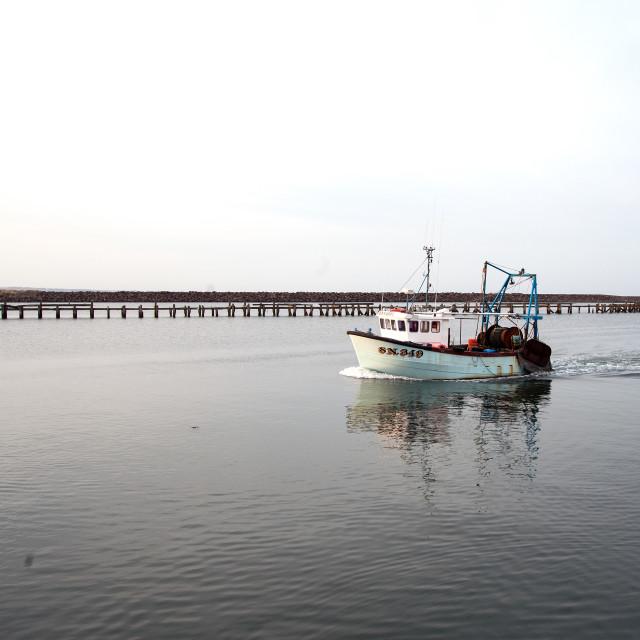 """Ambel fishing boat"" stock image"