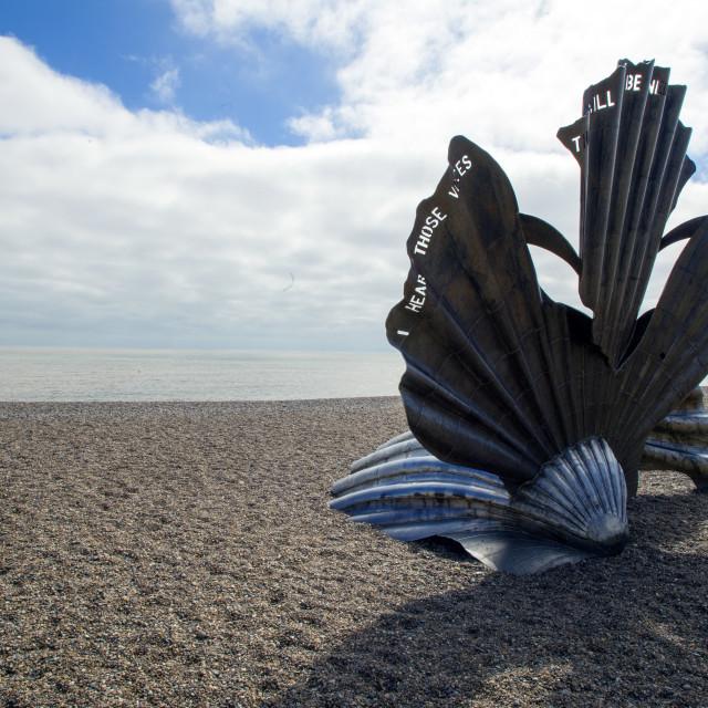 """""""The Scallop, Aldeburgh"""" stock image"""