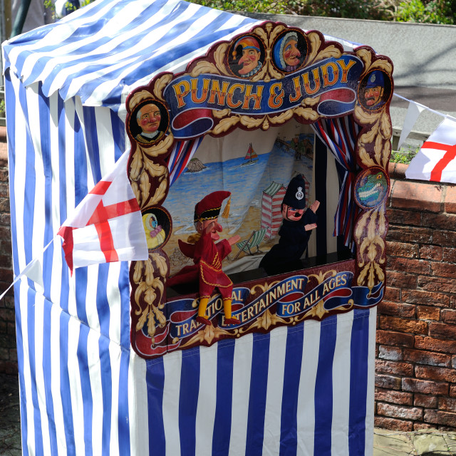 """Punch And Judy Show"" stock image"
