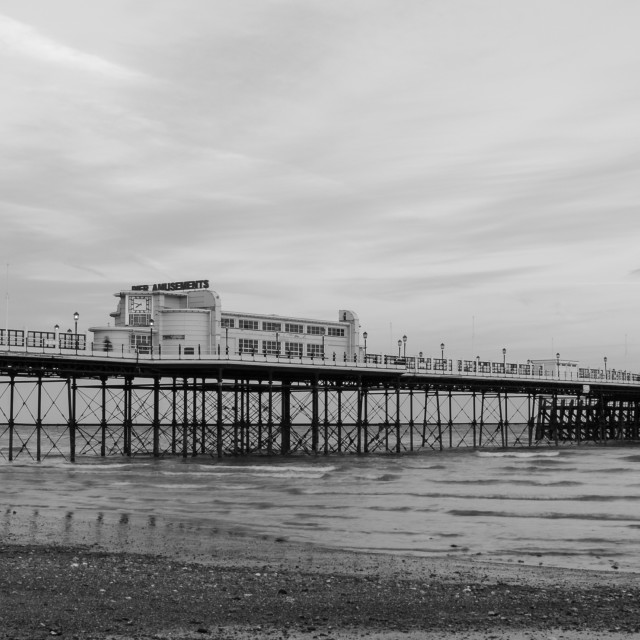 """Worthing pier in black and white"" stock image"