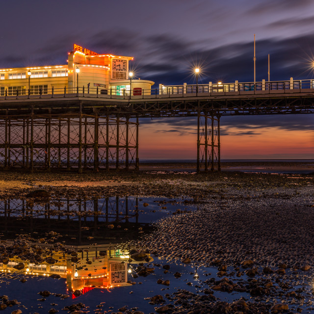 """Worthing pier light painting."" stock image"