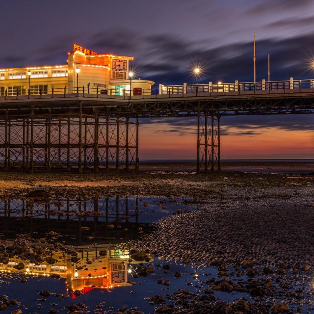 """Worthing pier light painting."" stock image"