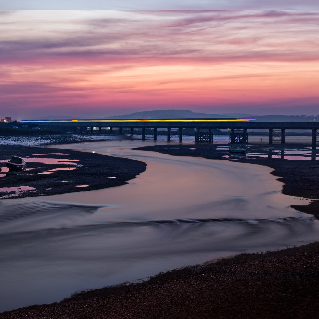 """Shoreham railway bridge"" stock image"