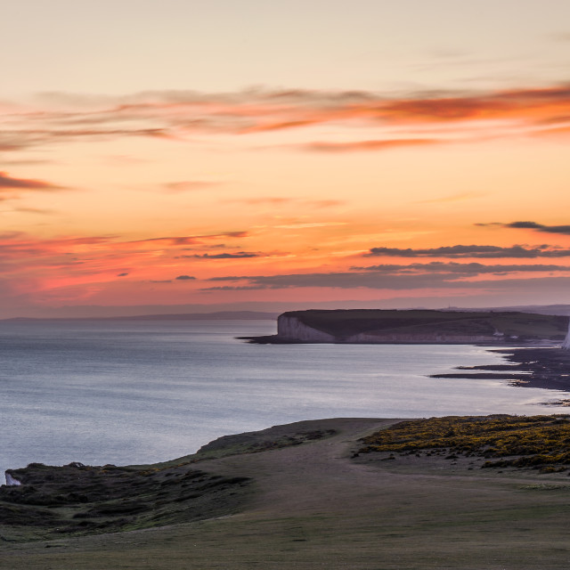 """Seven Sisters at sunset"" stock image"