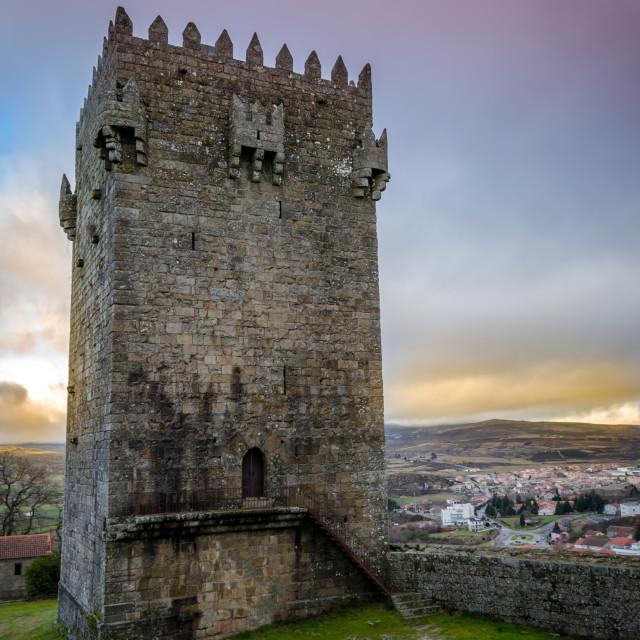 """Montalegre Castle Tower."" stock image"