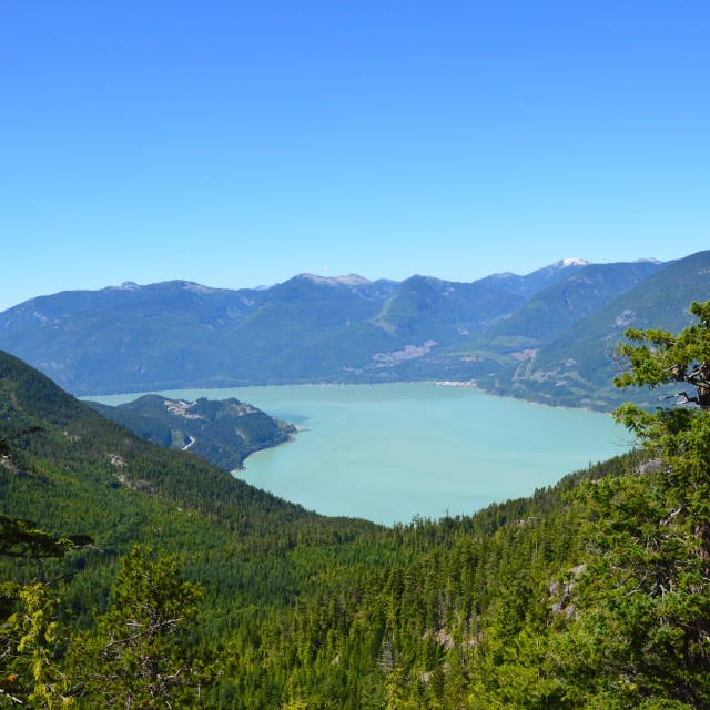 """""""View in Squamish"""" stock image"""