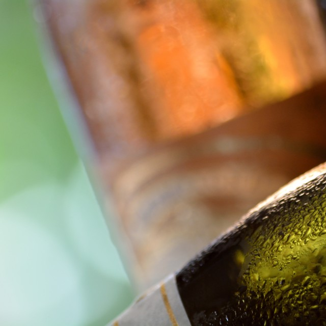 """Wet Wine Bottle Surface"" stock image"