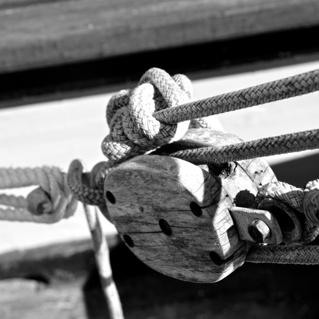 """Ropes on a boat"" stock image"