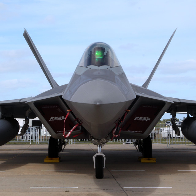 """Lockheed Martin F22 Raptor"" stock image"