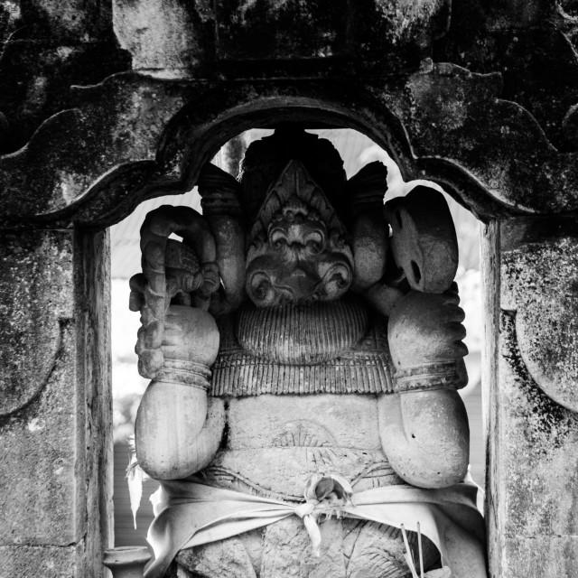 """""""Stone Ganesha"""" stock image"""