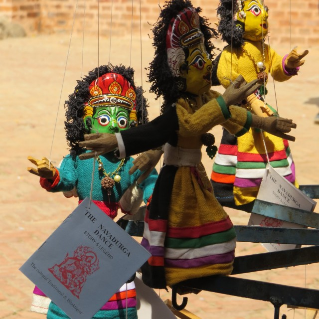 """Nepalese Puppets"" stock image"