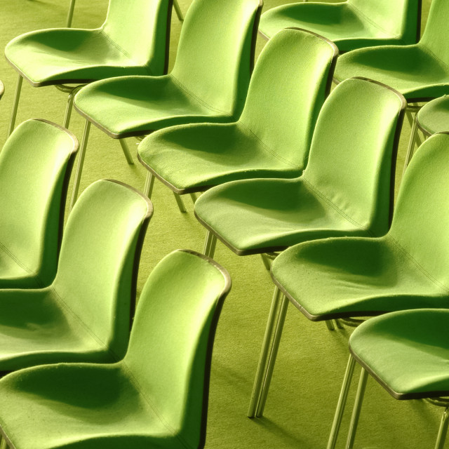 """green chairs"" stock image"