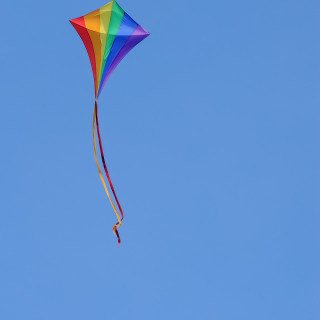 """rainbow kite"" stock image"