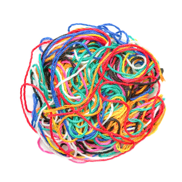 """""""colored woolen threads"""" stock image"""