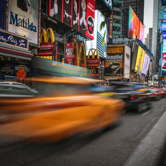 """Cars on Times Square"" stock image"