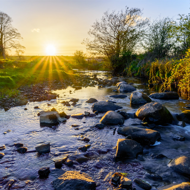 """Sunset river"" stock image"