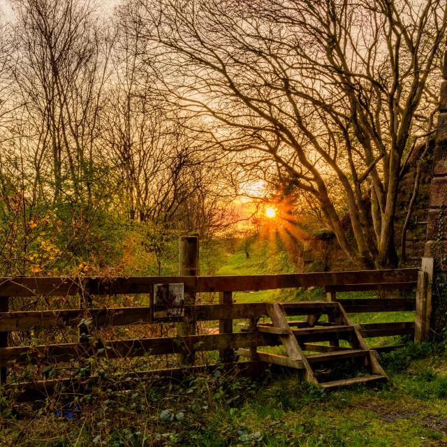 """Sunset gate"" stock image"
