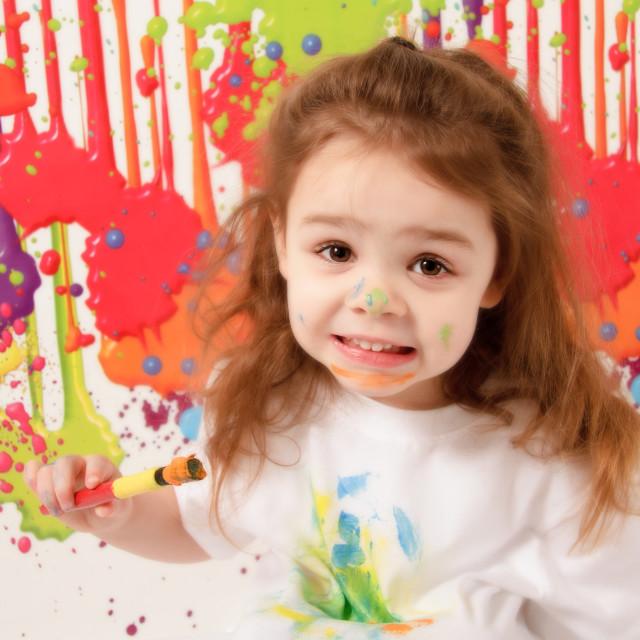 """Child painting"" stock image"