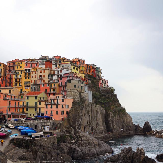 """""""Manarola in Cinque Terre, Italy"""" stock image"""