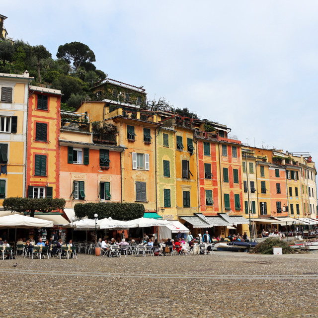 """Square in Portofino"" stock image"