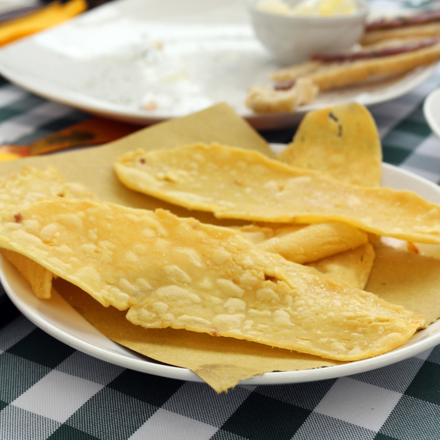"""Chickpea flatbread"" stock image"
