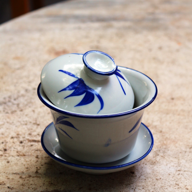 """Porcelain tea cups"" stock image"