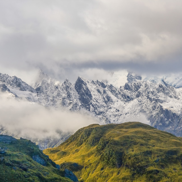 """Panorama of Mount cook"" stock image"