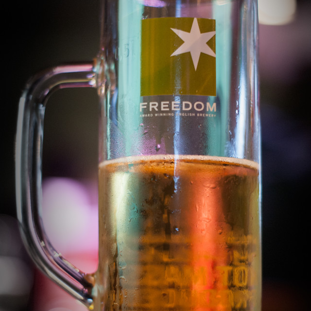 """Freedom Beer"" stock image"