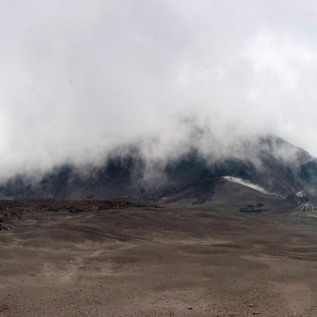 """Etna erupts"" stock image"