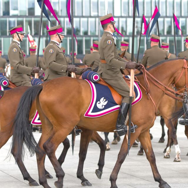"""Polish cavalrymen"" stock image"