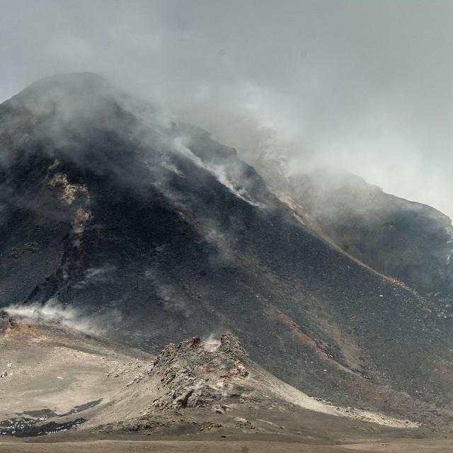 """Steaming Etna"" stock image"