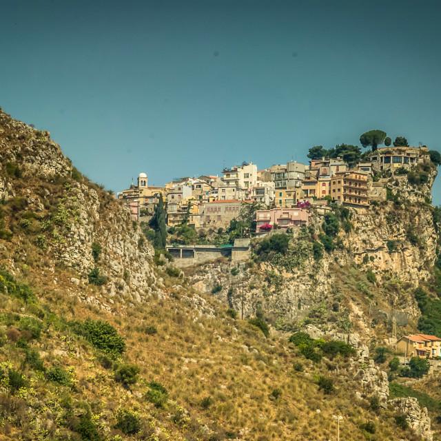 """Hillside above Taormina"" stock image"