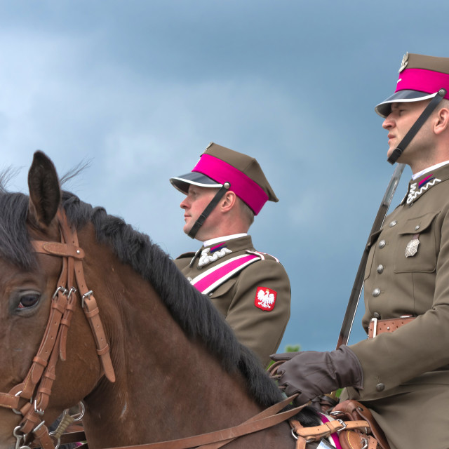 """Polish cavalrymen"" stock image"