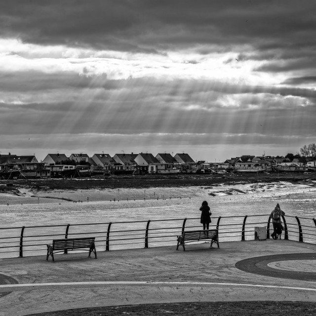 """Light rays of Shoreham"" stock image"