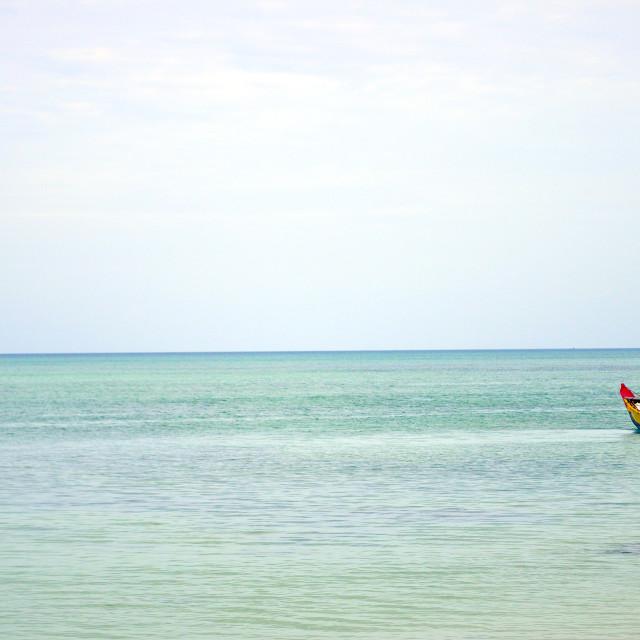 """Sailing in Havelock Island"" stock image"