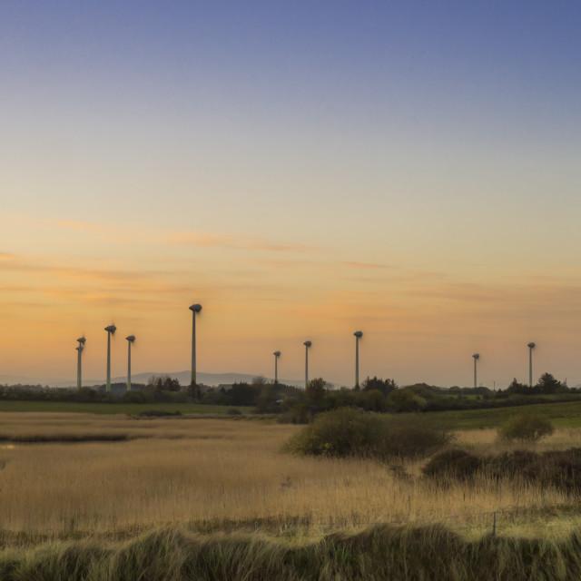 """Wind Powered Generators."" stock image"