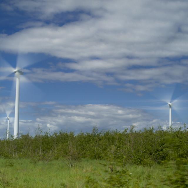 """Wind Fans."" stock image"