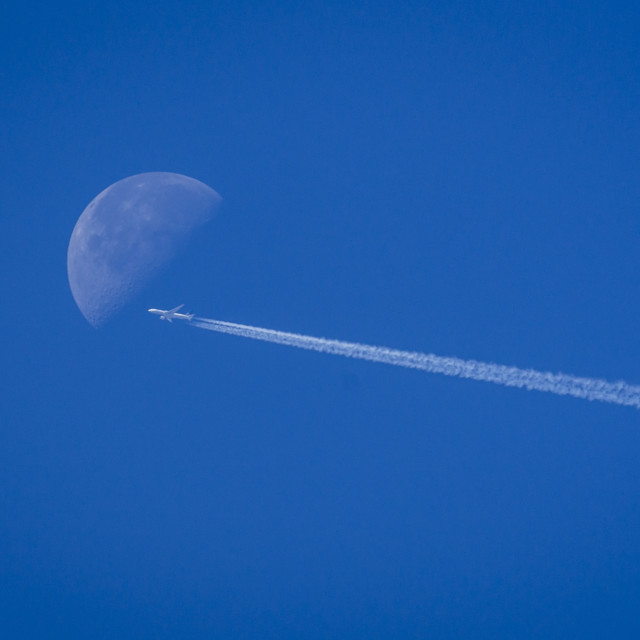"""""""Fly me to the Moon."""" stock image"""
