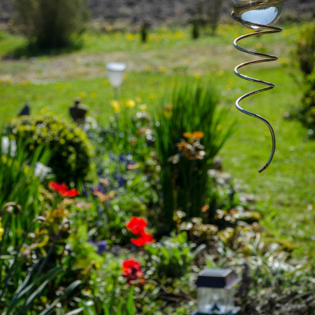 """Orb in the garden"" stock image"