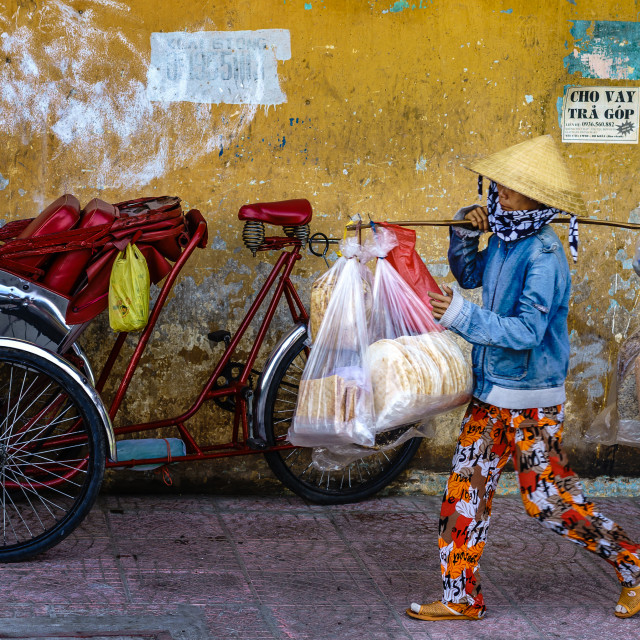 """Ho Chi Minh City Street vendor"" stock image"