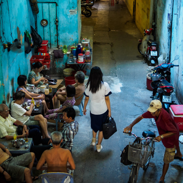 """Small Lane at Cho Lon Saigon"" stock image"