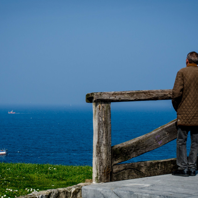 """The old man and the sea"" stock image"