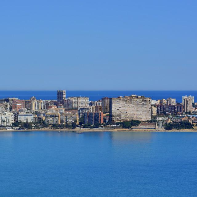 """""""View of San Juan, Alicante, Spain."""" stock image"""