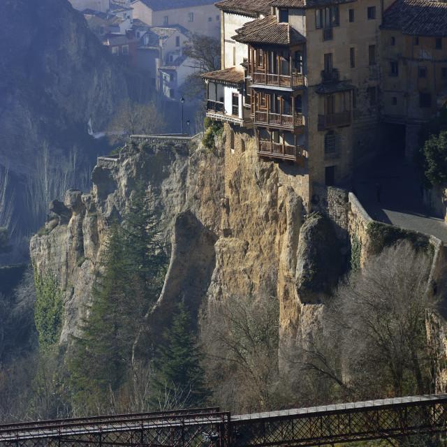 """Hanging Houses in Cuenca, Spain"" stock image"