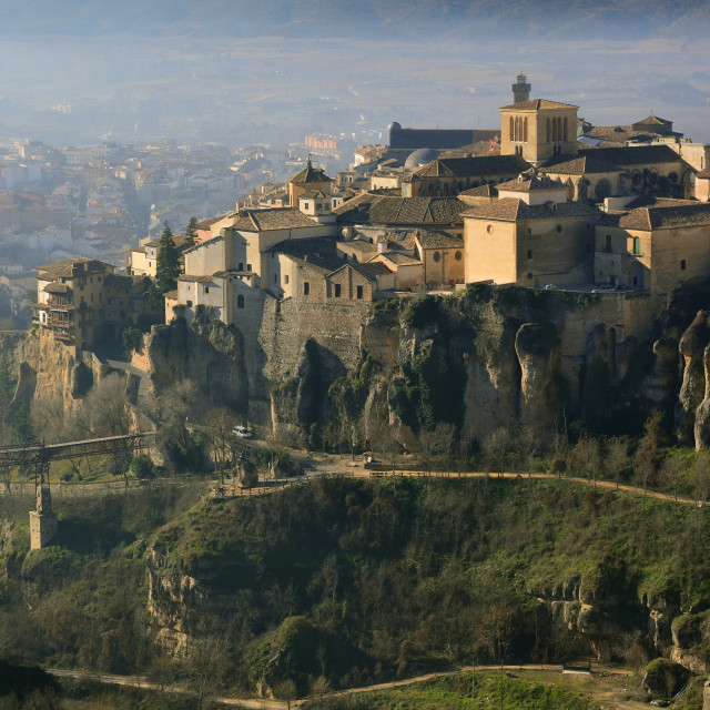 """""""Old town of Cuenca, Spain."""" stock image"""