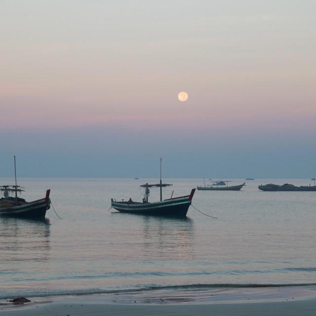 """""""Dawn Moon"""" stock image"""