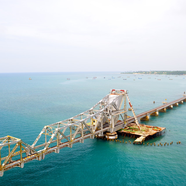 """Railway in Rameswaram, India"" stock image"